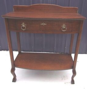 Antique Oak Claw Feet Original Finish Server Buffet Sideboard Selling Out