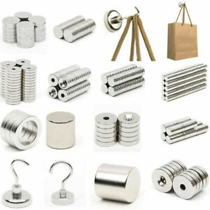 1 100pcs Mini N52 Super Strong Magnets Disc Block Earth Neodymium Fridge Magnet