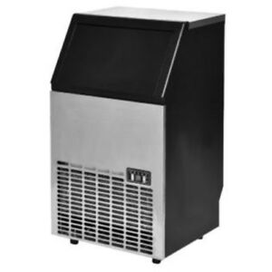 Goplus Goplus Built in Stainless Steel Commercial Ice Maker Portable Ice Machine