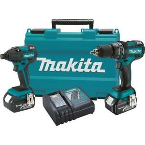 Makita Xt248 18v Lxt Lithium ion Brushless Cordless 2 pc Kit