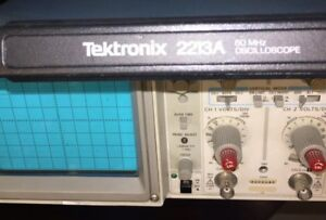 Used Tektronix 2213a Oscillator Scope 60mhz