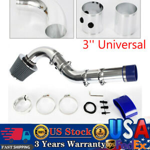 3 Universal Multiple Combined Cold Air Intake System Pipe Kit Filter Set