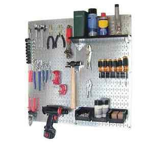 Tool Holder Pegboard Panel Removable Organizer Garage Sturdy Shelves Storage New