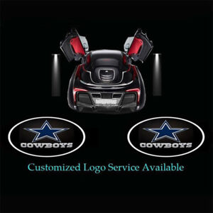 2x Dallas Cowboys Logo Wireless Car Door Projector Puddle Shadow Led Lights Usa