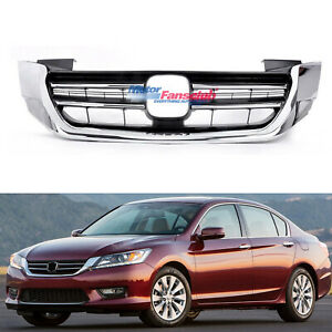 Radiator Car Grille Front Upper Grill Gen For Honda Accord 2013 2014 2015 Chrome