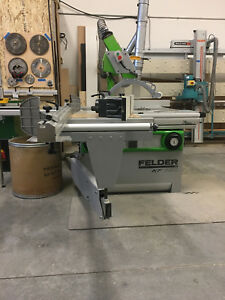 2011 Felder Kf700 Sliding Table Saw And Shaper