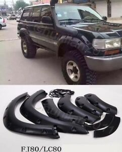 Fender Flare Kit Wheel Arch Cover Trim For Toyota Land Cruiser 4500 Lc80 Fj80