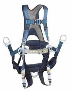 3m Dbi sala Exofit 1108657 Tower Climbing Harness Front back side D rings Bel