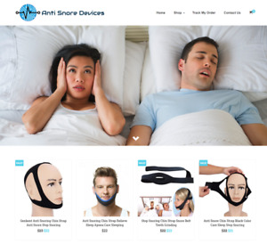 Anti Snore Device Turnkey Website Business For Sale Profitable Dropshipping
