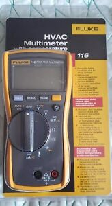 Fluke 116 Multimeter With Temperature And Microamps Hvac True Rms Multimeter