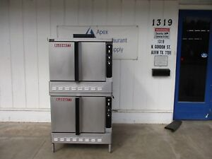 Double Stacked 115v Blodgett Natural Gas Convection Oven 3506