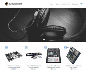 Dj Equipment Turnkey Website Business For Sale Profitable Dropshipping