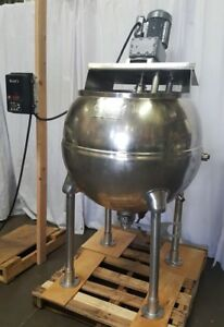Groen Steam Jacketed Inclined Agitator Commercial Cooker Mixer Kettle 100 Gal