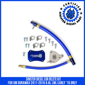 Sinister Diesel Egr Delete Kit For Gm Duramax 2011 2015 6 6l Lml Early 15 Only