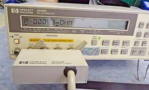Agilent Keysigh Hp 4338a Milliohmmeter 16143b 16007a b Test Leads Tested Good