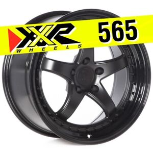 Xxr 565 18x9 5 5 120 38 Flat Black Spoke Gloss Black Lip Wheels Set Of 4