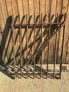 Old 70 Pound Rustic Iron Yard Garden Gate 33 By 44 7 8 Tall Local Pick Up
