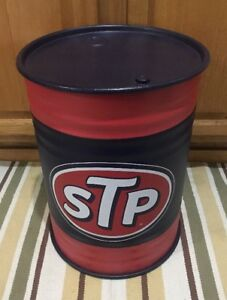 Stp Trash Can Waste Basket Oil Can Vintage Style Ford Truck Car Chevrolet Gas
