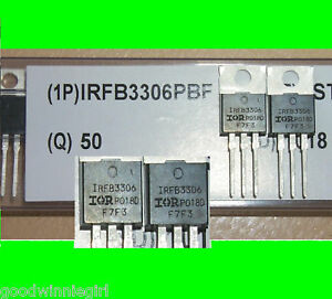 50pc Ir Mosfet Hexfet Irfb3306pbf 60v 160a 0 0042 Ohm