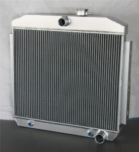 3core Row Aluminum Radiator For Chevy Bel Air V8 W Cooler 1955 1956 1957
