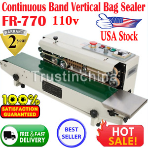 110v Continuous Auto Sealing Machine Band Sealer Plastic Bag Film Automatic 770