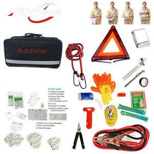 Car Vehicle Aaa Roadside Emergency Assistance Kit 123 Piece New Free Shipping