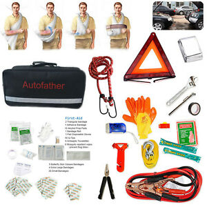Auto Emergency Kit Multipurpose Emergency Roadside Assistance first Aid Medicine