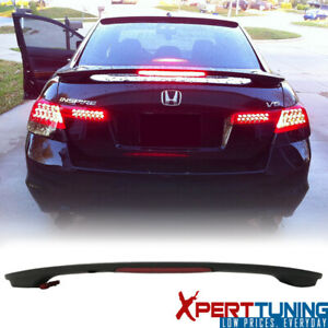 Fits 08 12 Honda Accord Sedan Oe Factory Matte Black Trunk Spoiler