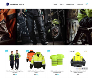 Work Wear Shop Turnkey Website Business For Sale Profitable Dropshipping