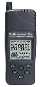 Carbon Dioxide Co2 Humidity Temperature 3in1 Tester Meter Monitor Usb Datalogger