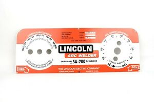 Lincoln Sa 200 Redface Faceplate M 10926 misstamped Bwa1065
