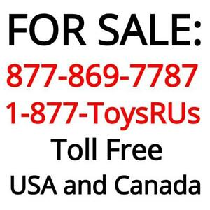 Vanity Toll Free Phone Number 1 877 toysrus Or 1 877 towsrus 1 877 869 7787