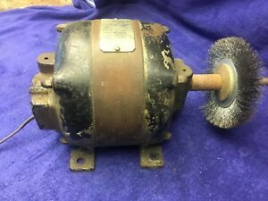 Vintage General Electric Ge 1 4hp Motor Antique Cast Iron Works 26136