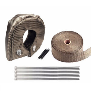 T3 Titanium Turbo Heat Shield Blanket Cover 2 50feet Exhaust Header Wrap Tape