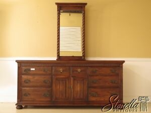 41170 Ethan Allen Charter Oak Collection Dresser W Mirror