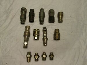 Lot Of Skid Steer Hydraulic Quick Release Couplings Parker Used Couplers
