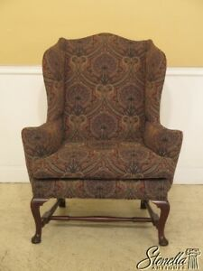 45629ec Kittinger Cw 44 Colonial Williamsburg Mahogany Wing Chair