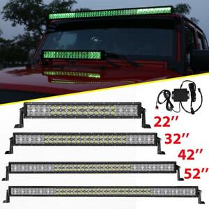 5d 22 32 42 50 52inch 4 18w Led Work Light Bar Multicolor Offroad Driving
