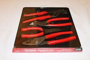 Snap On Pliers And Cutters 4 Pc Red Brand New Pl400b