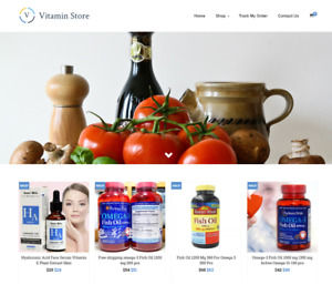 Established Vitamin Turnkey Website Business For Sale Profitable Dropshipping