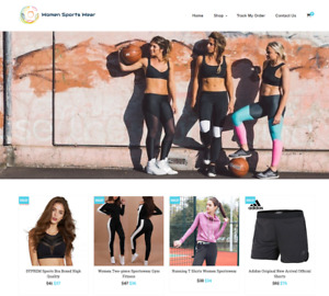 Women Sports Wear Turnkey Website Business For Sale Profitable Dropshipping