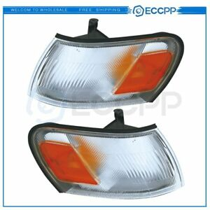 To2550106 To2551106 Pair Park Signal Lamps For 1993 1997 Toyota Corolla