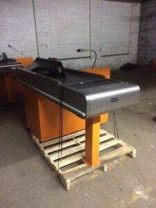 Motorized Checkout Counter W Electric Belt Used Grocery Store Equipment Fixtures