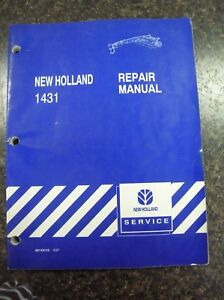 New Holland 1431 Discbine Mower conditioner Repair Manual