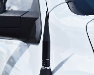 True Spike Black 5 Billet Fat Spiked Am Fm Radio Antenna For Chevy Silverado