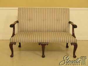 44868ec Kittinger Colonial Williamsburg Cw 154 Mahogany Settee