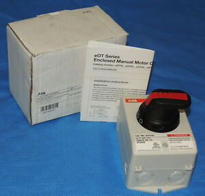 New Abb Eot32u3p4 p Disconnect Switch Enclosed Non fused 600v 40a 3p