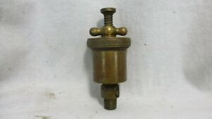 Vintage Brass T handle Hit Miss Engine Grease Cup Oiler 1g