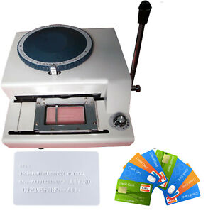 68 character Pvc id credit Card Embosser Code Printer Manual Stamping Machine