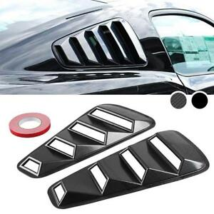 2pcs Quarter Side Window Louvers Scoop Cover Vent For 2005 2014 Ford Mustang